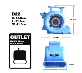 Електричний вентилятор OneDry C22