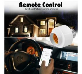 Смарт Wi-Fi Розумний цоколь E27 для контролю світлом дистанційно